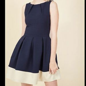 ModCloth Closet Luck Be A Lady dress in navy NWT